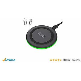Yootech Wireless Charger,Qi-Certified 10W Max Fast Wireless Charging Pad Compatible with IPhone 11/11 Pro/11 Pro Max/XS MAX/XR/XS/X/8, Samsung Galaxy Note 10/S10/S9/S8, AirPods Pro(No AC Adapter)
