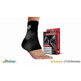 Ankle Brace for Plantar Fasciitis and Foot Support - Ankle Wrap for Sprain, Achilles, Tendonitis & Heel Pain Relief for Women & Men - Reduce Swelling, Stabilizing Ligaments, Breathable & Comfortable