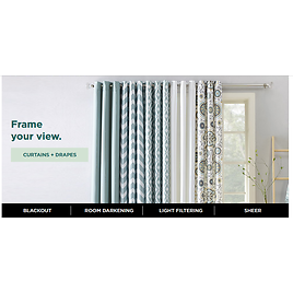 Up to 60% Off + 15% Off Curtains