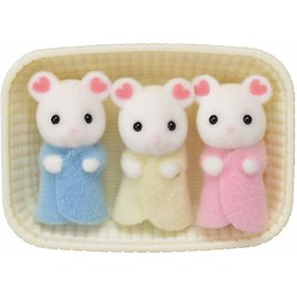 Calico Critters Marshmallow Mouse Triplets