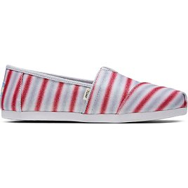 Red and White Candy Cane Glitter Women's Classics