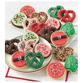 Buttercream Frosted Holiday Cookies and Gourmet Pretzels from 1-800-FLOWERS.COM