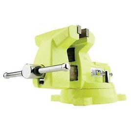 High-Visibility Safety Vise, 5 In. Jaw Width, 5-1/4 In. Jaw Opening