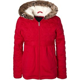 Limited Too Toddler Girl Heart Quilted Faux Fur Jacket