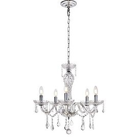 Valencia Collection Chandelier D23 H22 5-Light Chrome - Traditional - Chandeliers - By Buildcom