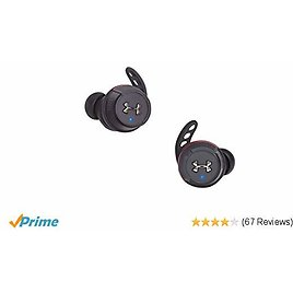 Today Only! Under Armour True Wireless Flash In-Ear Sport Headphones Engineered By JBL (Black)