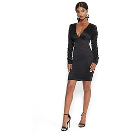 Satiny Ruched Dress