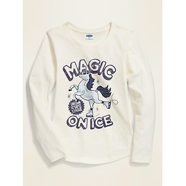Graphic Long-Sleeve Tee for Girls | Old Navy