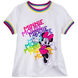 Minnie Mouse Knotted T-Shirt for Girls | ShopDisney