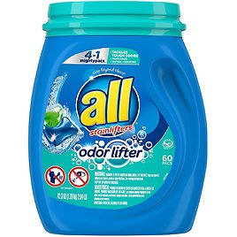 60-Ct All Mighty Pacs Laundry Detergent