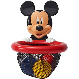 Disney Baby Mickey Mouse Shoot, Score and Store, Bath Toy Storage Basket, 4 Pieces