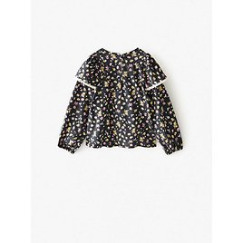 FLORAL PRINT TOP WITH RUFFLE