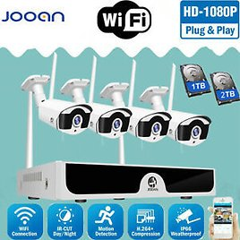 JOOAN Wireless WIFI Security 1080P Camera HDMI Video HDD Home Outdoor System 2TB
