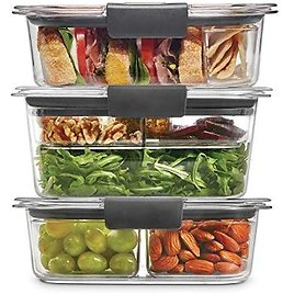 Rubbermaid Leak-Proof Brilliance Food Storage 12-Piece Plastic Containers with Lids