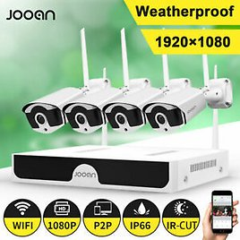 JOOAN 8CH Wireless 1080P NVR Outdoor WIFI Camera CCTV Security System Plug Play