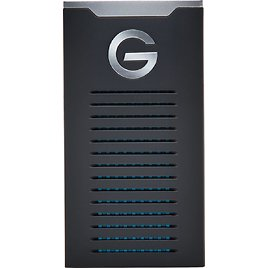 G-Technology - G-DRIVE Mobile SSD R-Series 1TB External USB 3.1 Gen 2 Portable Solid State Drive - Black/Silver