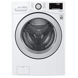 LG Electronics 4.5 Cu.ft. High Efficiency Ultra Large Smart Front Load Washer + F/S