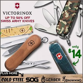 Like a Swiss Train, These Blades Are On Time. Victorinox from 14 Bucks.