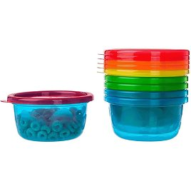 The First Years 6 Pack Take & Toss Bowls with Lids 8 oz