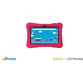 7 Inch Kids Tablet | Quad Core Android,1GB RAM+16GB ROM | WiFi,Bluetooth,Dual Camera | Educational,Games,Parental Control