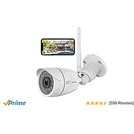Wireless Outdoor Security Camera - Works With Alexa