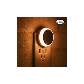 Briignite LED Night Lights Plug in Dusk to Dawn Sensor, Automatic Nightlight for Kids, 60LM, Energy Efficient, Compact, Ideal for Hallway, Bedroom, Bathroom, Kitchen, Daylight White, 4 Pack