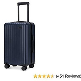 20 Inch Hardside Carry On Luggage with Spinner Wheels, Travel Lightweight PC Hardshell Suitcase with TSA Lock Blue