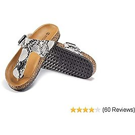 Women's Sandals Flip Flop Casual with Buckle Adjust Footbed Comfortable