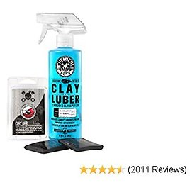 Chemical Guys CLY_KIT_1 Heavy Duty Clay Bar and Luber Synthetic Lubricant Kit (16 Fl Oz) (2 Items),Black