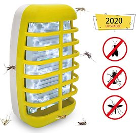 Bug Zapper 2020 New Electronic Mosquito Insect Killer Night Light Mosquitos Bug Zappers- Non-Toxic, No Radiation Insect Trap Lamp for Home Bedroom, Kitchen& Office