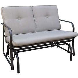 Living Accents Jefferson 2 Person Steel Double Glider