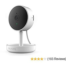 Blurams Home Pro, Security Camera 1080p FHD | w/ Facia Recognition, 2-way Talk, Human/Sound Detect, Person Alert, Privacy Area, Night Vision and Siren | Cloud/Local Storage Available, Works with Alexa