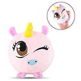 HAS Slow Rising Plush Squishy Toys Super Soft Decompression Squeeze Plush Toys Stuffed Animal (Pink)