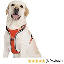 Pettom Reflective No Pull Dog Harness Adjustable Pet Nylon Vest Comfort Harness for Dogs Outdoor Walking