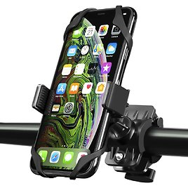 Insten Bicycle Phone Mount Bike Cell Phone Mount Holder Motorcycle Ram Handlebar with Secure Grip for IPhone 11 / 11 Pro / 11 Pro Max X XS XR 8 7 6 6s Plus Samsung Galaxy S7 S8 S9 S10 S10e