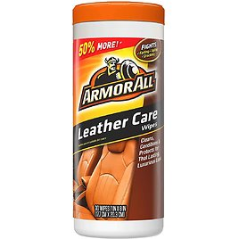 30-ct Armor All Car Leather Conditioner & Cleaner Wipes