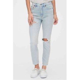 Price Drop!! High Rise Destructed Cigarette Jeans with Secret Smoothing Pockets