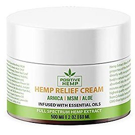 Hemp Muscle Pain Relief Cream (500mg) with MSM, Arnica, Aloe and 19 Essential Oil Blend for Knee, Joint, Arthritis Pain & Sore Muscles, Non-GMO Premium, Organic Hemp Cream