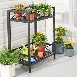 Mainstays Marna Small Space 2-Shelf Potting Bench, Multiple Colors