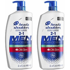 Head and Shoulders Shampoo and Conditioner 2 in 1, Anti Dandruff Treatment and Scalp Care, 31.4 Fl Oz, Twin Pack