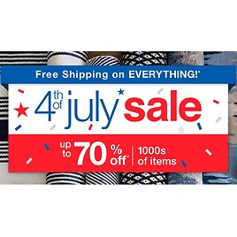 70% Off 4th of July Blowout Sale + 10% Off & Free Shipping