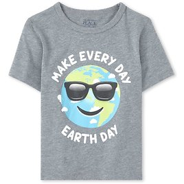 Baby And Toddler Boys Earth Day Matching Graphic Tee