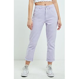 PacSun Purple Rolled Mom Jeans