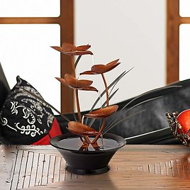 """Bloomfield Copper Flower 13"""" High Tabletop Fountain"""
