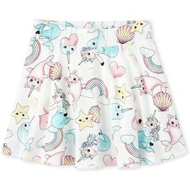 ☆up to 90% Off☆Girls Mix And Match Print Knit Skort