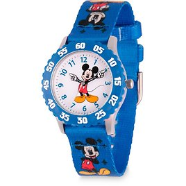 Mickey Mouse Time Teacher Watch for Kids – Print Band | ShopDisney