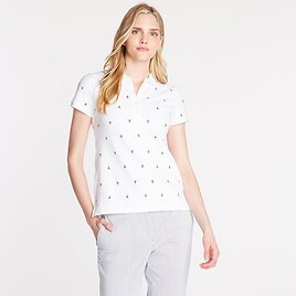 Anchor Motif Classic Fit Short Sleeve Polo