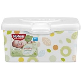3 Pack - Baby Wipe Huggies Natural Care Tub Aloe Unscented 64 Count