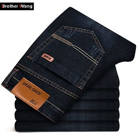2020 Summer New Men's Fashion Thin Jeans Business Casual Stretch Slim Jeans Classic Trousers Denim Pants Male Brand Black Blue