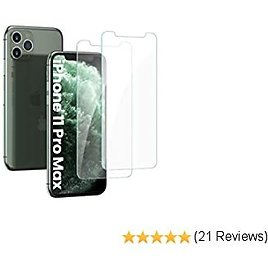 UGREEN Screen Protector for IPhone 11 Pro Max 2 Pack 6.5 Inch Tempered Glass Screen Protector Anti-Scratch with Alignment Frame